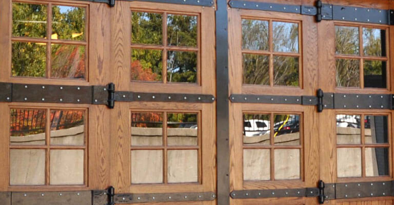 Renovated Oak Loading Dock Doors at Water Wheel Centre